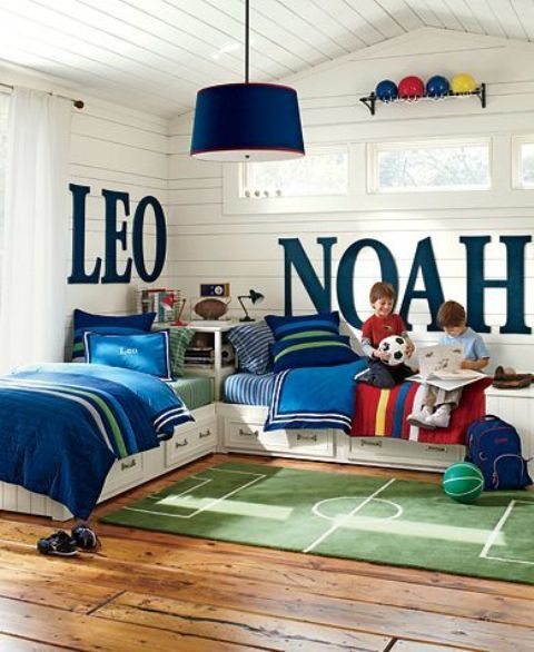 With Full Beds Shared Boys Room: 30 Awesome Shared Boys' Room Designs To Try