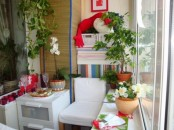blooms and greenery in pots, colorful candleholders and some bright touches for spring and summer decor
