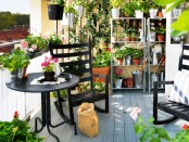 turn your balcony into a blooming orangery placing pots and planters with greenery and flowers everywhere