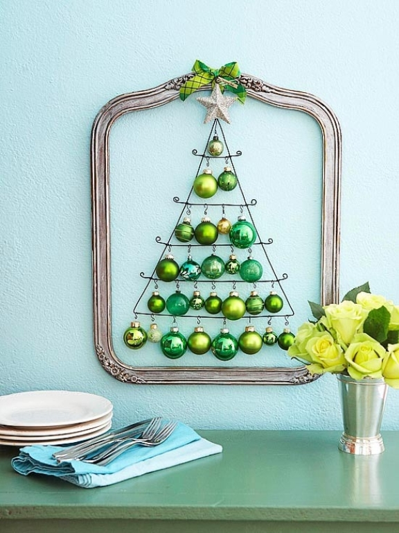Wall Decor Christmas Diy : Awesome traditional christmas tree alternatives digsdigs