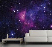 a gorgeous bold galaxy wall mural will make your space outstanding, and galaxy and celestial decor is on top now