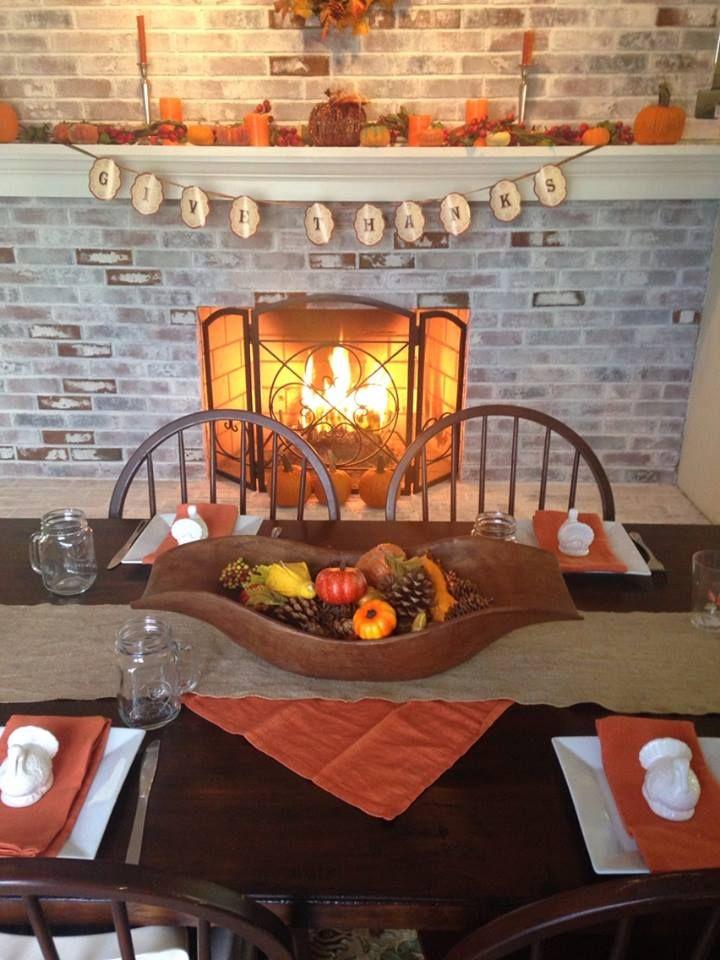 Whitewash Stone Fireplace Rustic