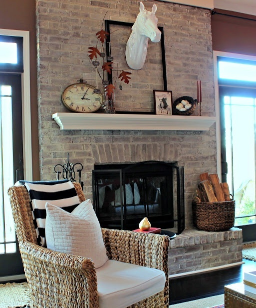 Shabby Chic Living Room Ideas: 38 Awesome Whitewashed Fireplace Designs