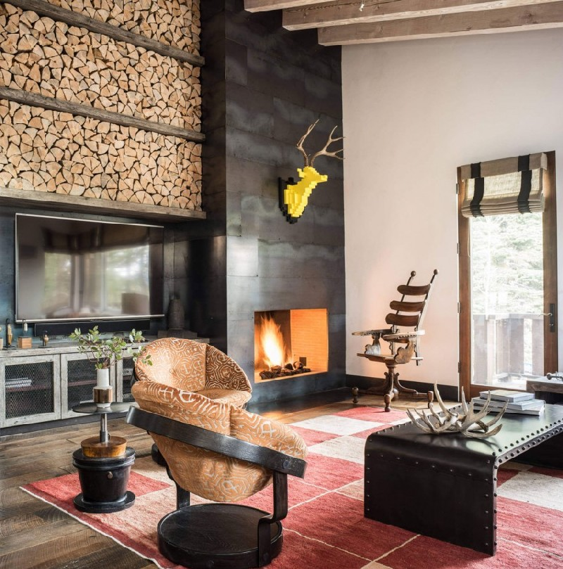 Bachelor's Tahoe Ski Retreat Wit Industrial Touches