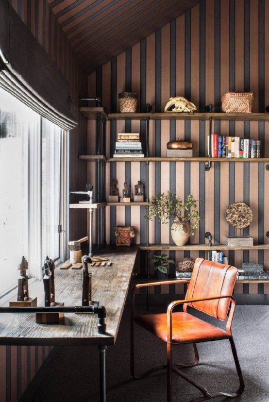 Bachelors Tahoe Ski Retreat With Industrial Touches