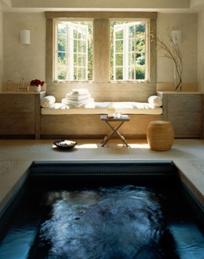 Bathroom With A Large Pool Instead of A Tub