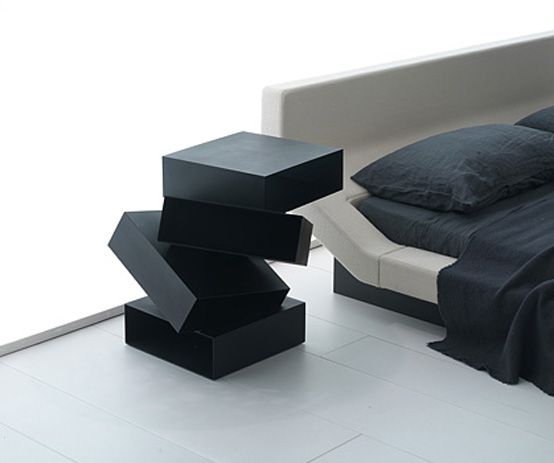 Creative Small Table with Storage – Balancing Boxes by Porro