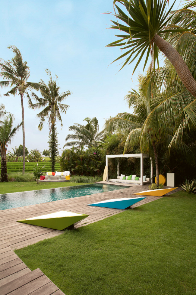 Bali House Designed In Colonial And Pop Art Style
