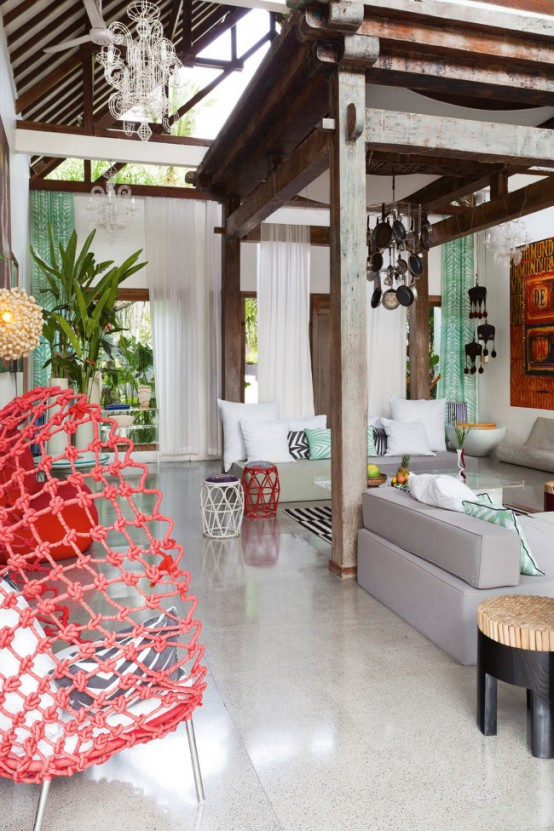 Bali House In Colonial And Pop Art Style