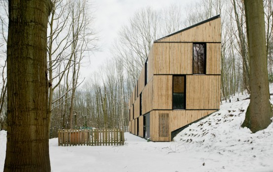 Bamboo-Clad House With Energy-Efficient Solutions