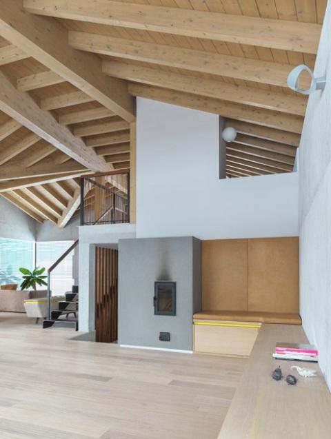 Barn Like Alpine Cottega With Modern Interiors