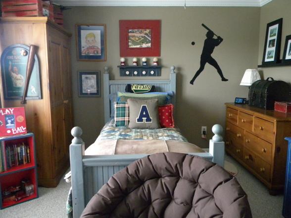 Baseball Inspired Boys Room