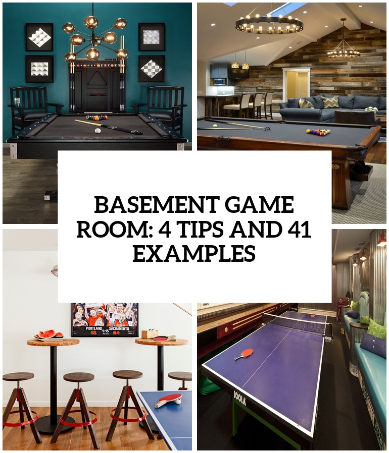 Basement kids game room - Basement Game Room 4 Tips And 26 Examples Cover