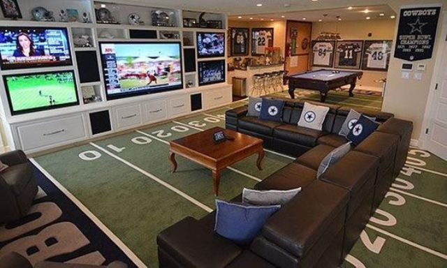 Man Cave Furniture Uk : Creating a basement game room tips and examples