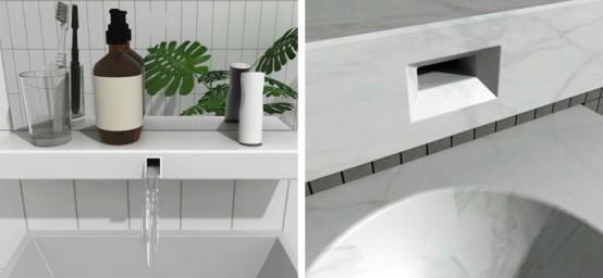 Bathroom Faucet In Shelf