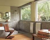 Bathroom In Brazilian Granite And Wood