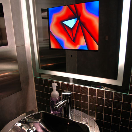 Bathroom Mirrors with Built-In TVs by Seura