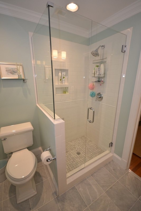 Wonderful Bathroom Designs Half Wall In Shower Remodel Next To