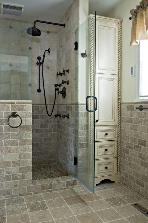 Creative Decor Bathrooms With Half Walls Digsdigs