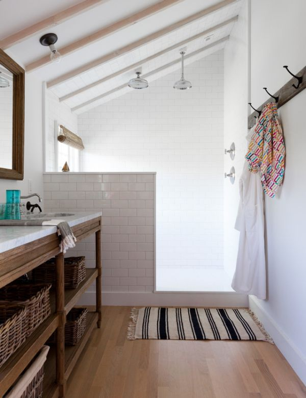 Bathrooms With Half Walls