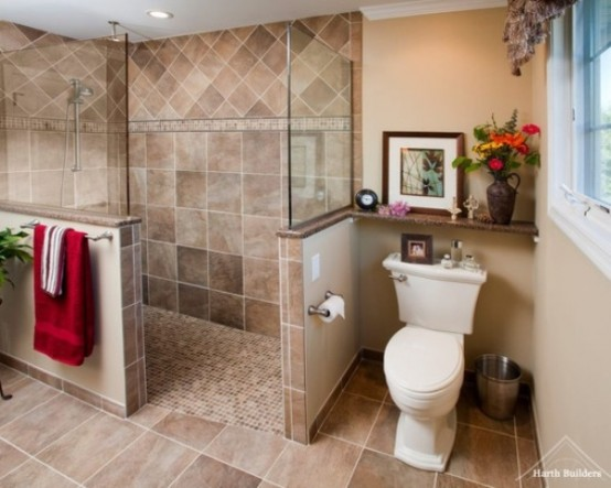 Bathrooms With Half Walls