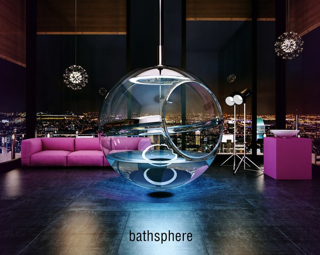 Bathsphere: Suspended Glass Bubble Bathtub