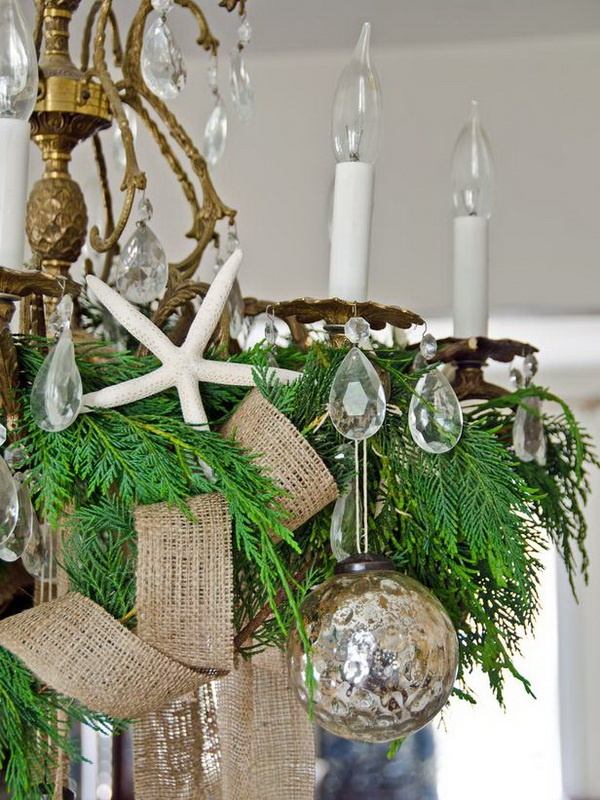 32 beach christmas d u00e9cor ideas digsdigs Small Kitchen Design Ideas Beach Theme Kitchen