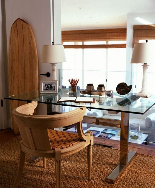 Tremendous 23 Beach Inspired Home Office Designs Digsdigs Largest Home Design Picture Inspirations Pitcheantrous