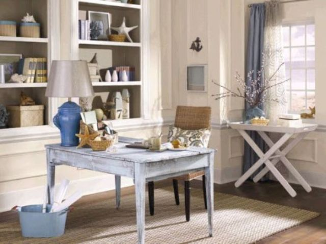 Beach Inspired Home Office Designs