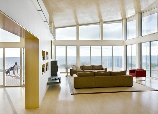 beach solar house interior