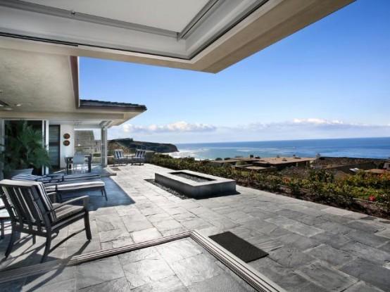Beatiful Tropical House Above The Beach