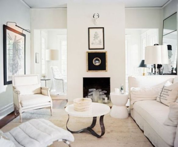 All shades of white 30 beautiful living room designs digsdigs - White and gold room ...