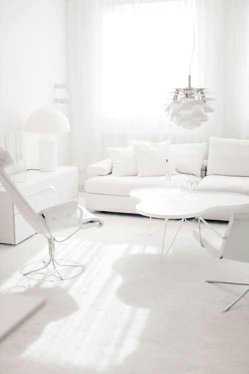 All Shades Of White: 30 Beautiful Living Room Designs - DigsDigs