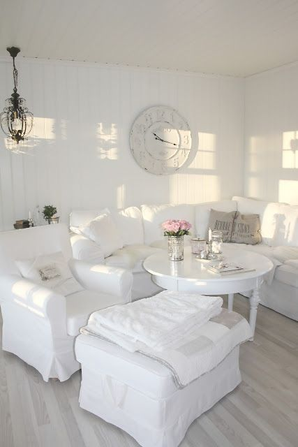 All shades of white 30 beautiful living room designs for Beautiful sitting room designs