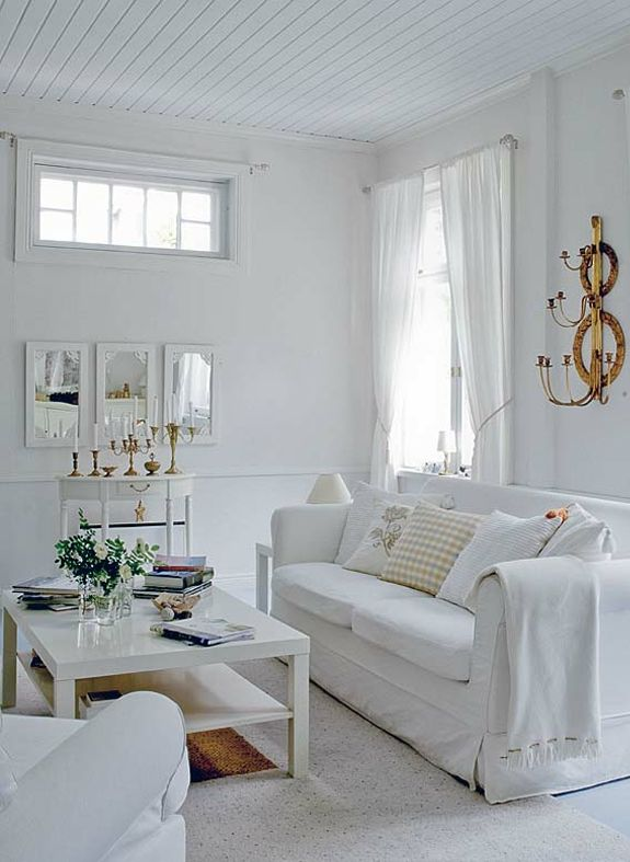 Designs Of Rooms: All Shades Of White: 30 Beautiful Living Room Designs