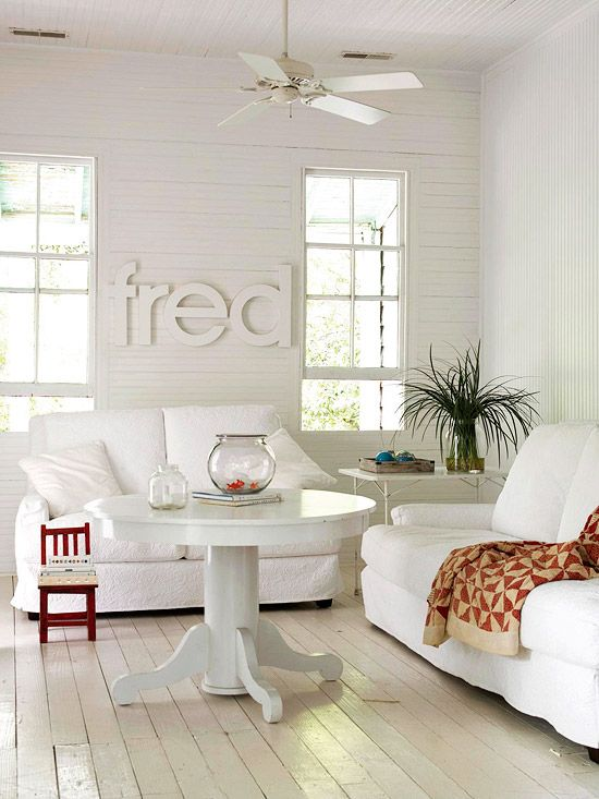 Beautiful All White Living Rooms