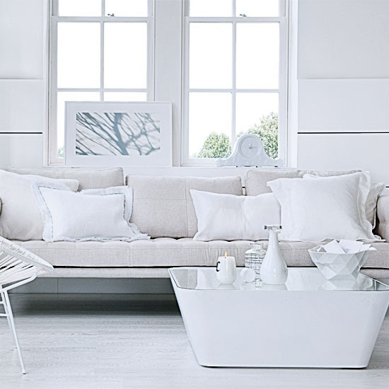 All shades of white 30 beautiful living room designs for Contemporary white living room design ideas