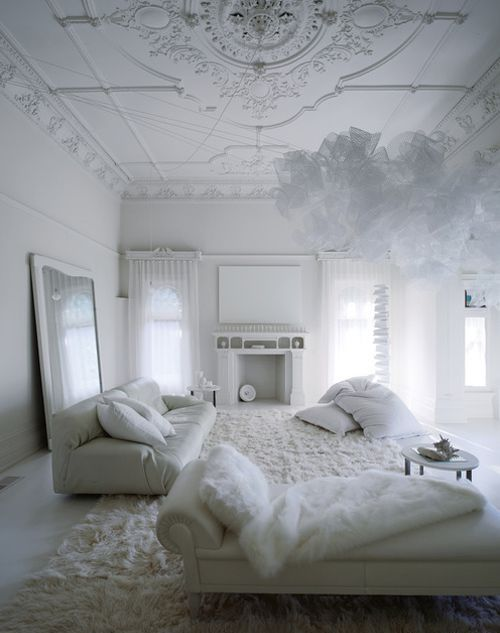 Beautiful All White Living Rooms Part 44