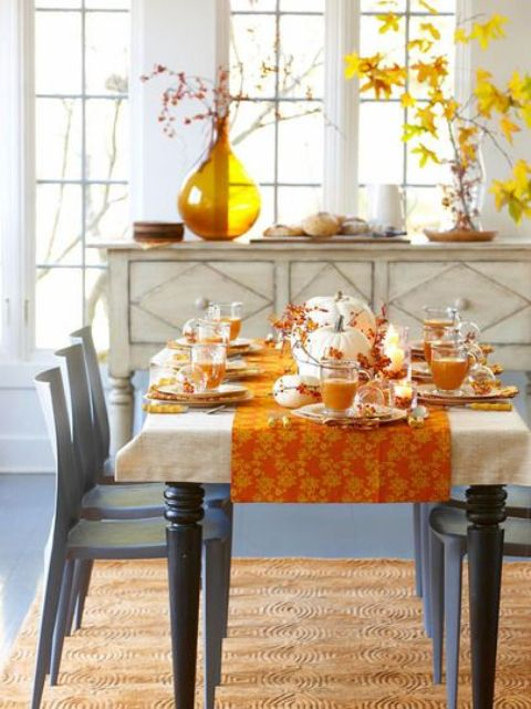 30 beautiful and cozy fall dining room d cor ideas digsdigs for Dining room decor ideas 2015
