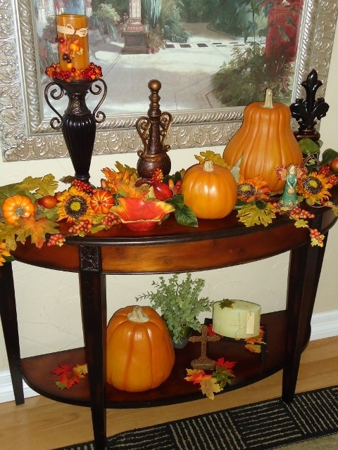 30 beautiful and cozy fall dining room d cor ideas digsdigs - Pumpkin decorating ideas autumnal decor ...