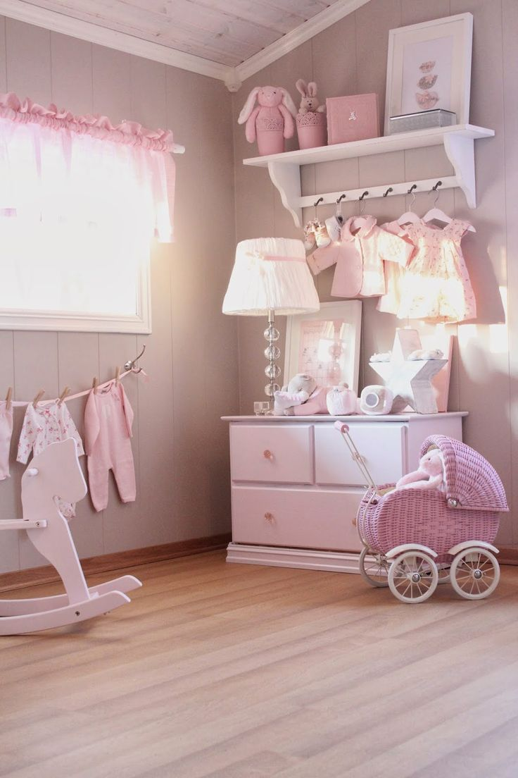 40 beautiful and cute shabby chic kids room designs digsdigs for Baby pink bedroom ideas
