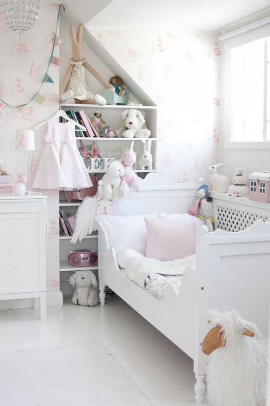 40 beautiful and cute shabby chic kids room designs digsdigs for Chic bedroom ideas women
