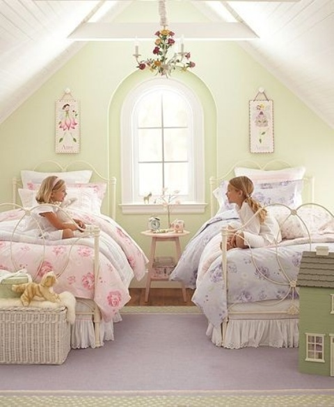 40 beautiful and cute shabby chic kids room designs digsdigs. Black Bedroom Furniture Sets. Home Design Ideas