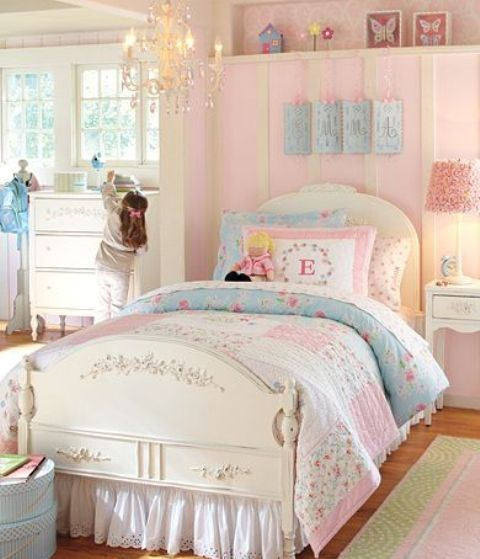 40 beautiful and cute shabby chic kids room designs digsdigs - Little girls shabby chic bedroom ...