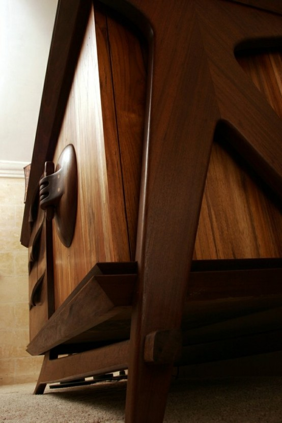 Beautiful And Stylish Credenza Of Natural Wood