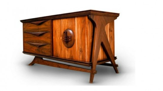 Beautiful And Stylish Credenza Of Natural Wood