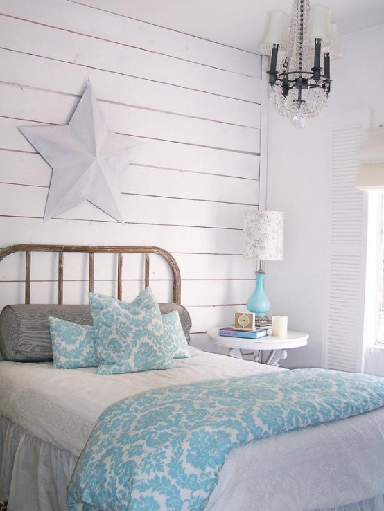 Whitewashed Wood Wall Would Be A Great Accent In Sea Themed Interior