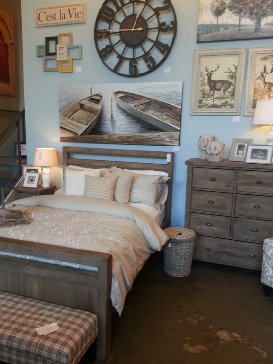 An oversized picture of boats is another cool way to go 49 Beautiful Beach And Sea Themed Bedroom Designs   DigsDigs. Marine Corps Themed Room. Home Design Ideas