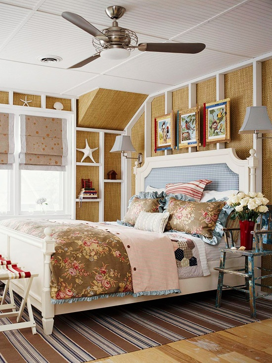 Natural fiber woven rugs is one thing but walls decorated in this way is  something much. 49 Beautiful Beach And Sea Themed Bedroom Designs   DigsDigs