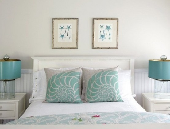 Seashells pattern is perfect for pillows.